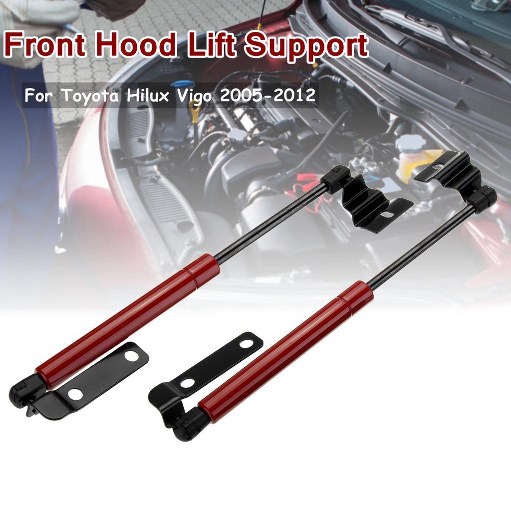 Pair Front Hood Bonnet Gas Lift Support Shock Strut Damper For Toyota Hilux Vigo