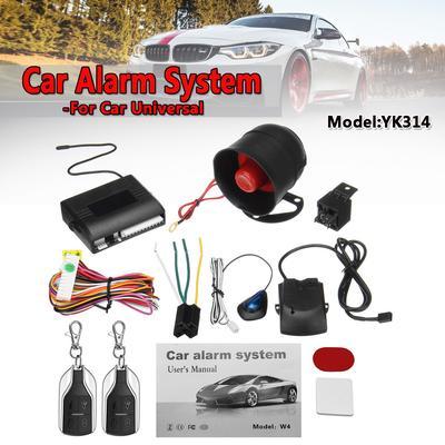 Car Alarm Security System,1 Way and 12V Keyless Entry System Car ...