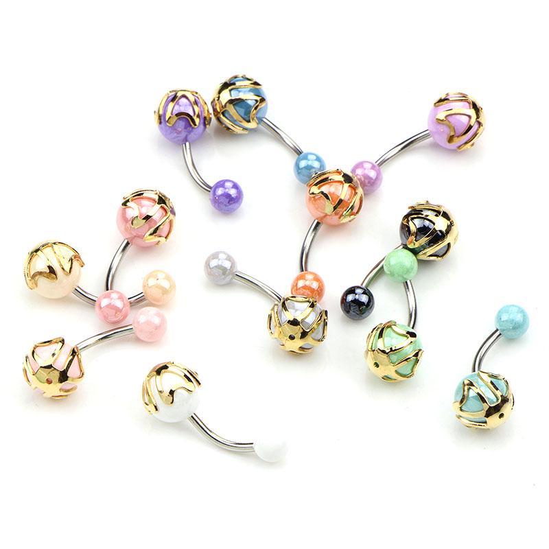 ECO Piercing Belly Button Barbell Bar Body Ring Jewellery Navel Steel BULK