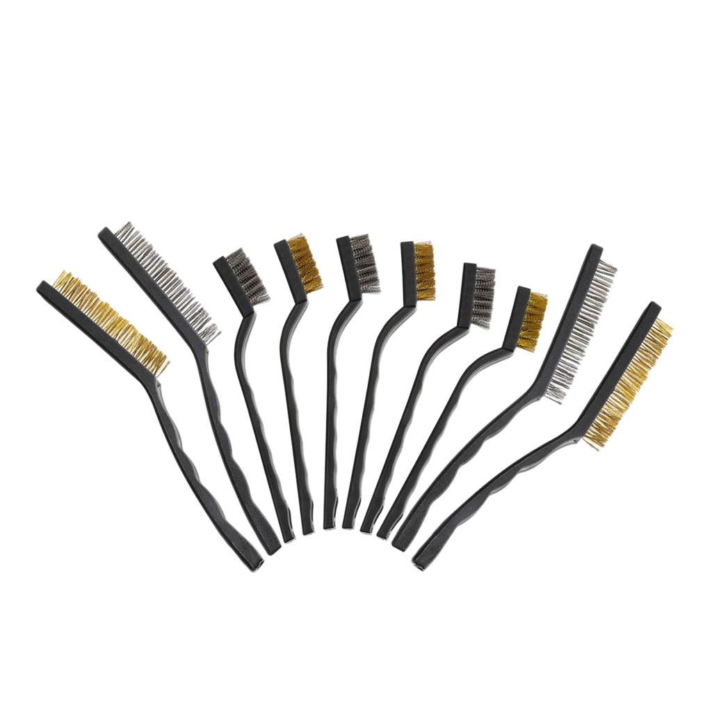 6PCS Stainless Steel Wire Brushes Set Cleaning Detailing Polish Welding Slag