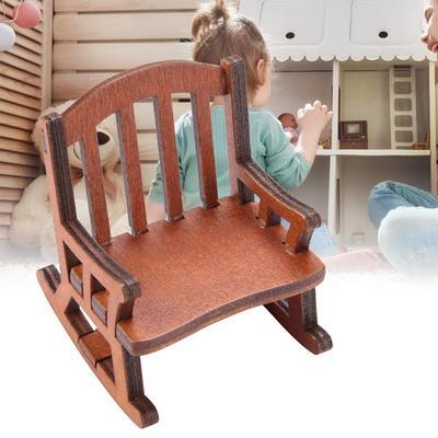 Wood Mini Chair for 1:12 Dollhouse Room Furniture Decorative Accessory DIY