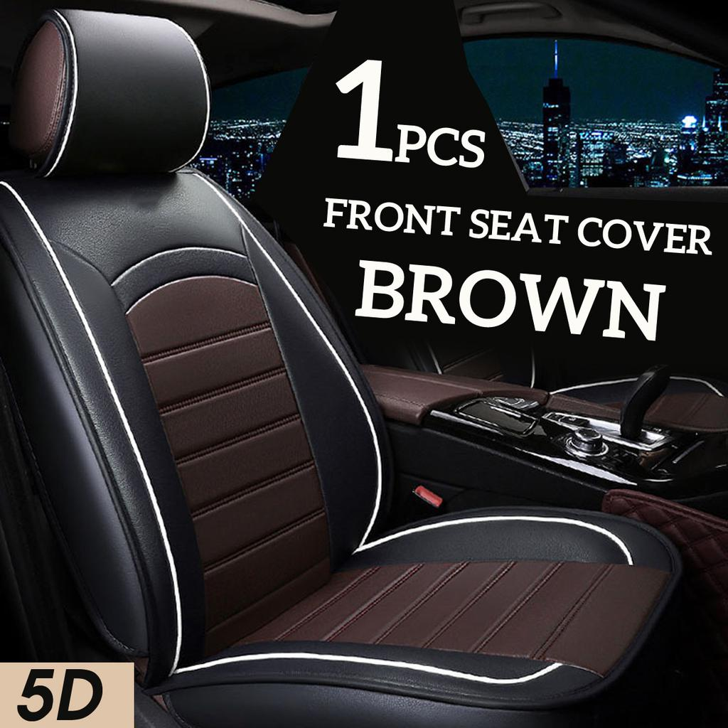 Four Seasons 2Pcs Breathable PU Leather Car Seat Cover Front Seat Protector Pad