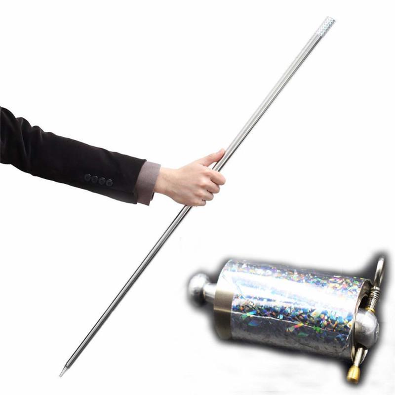 Portable Martial Arts Metal Magic Pocket Bo Staff 110cm New Pocket Magic TriHNJ
