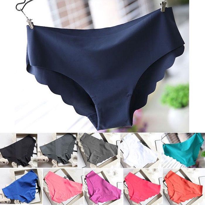 M-4XL Women Soft Underpants Seamless Lingerie Briefs Hipster Underwear Panties