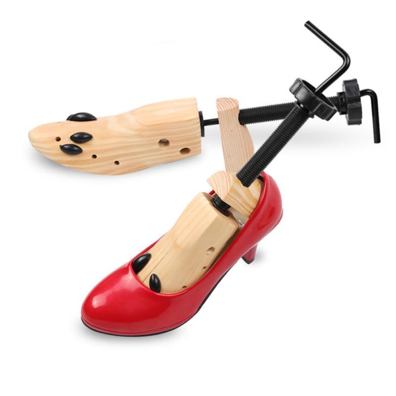 Wooden Adjustable Shoe Stretcher 2 Way Expander Wood Alloy Shoes Unisex RKL