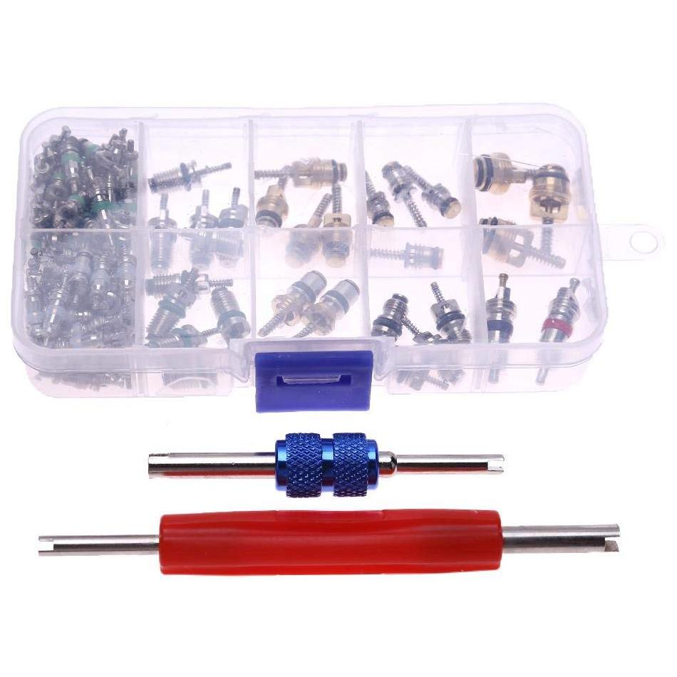 YouN 242pcs//set Car A//C Air Conditioning R134a Valve Cores Remover Tool Kit