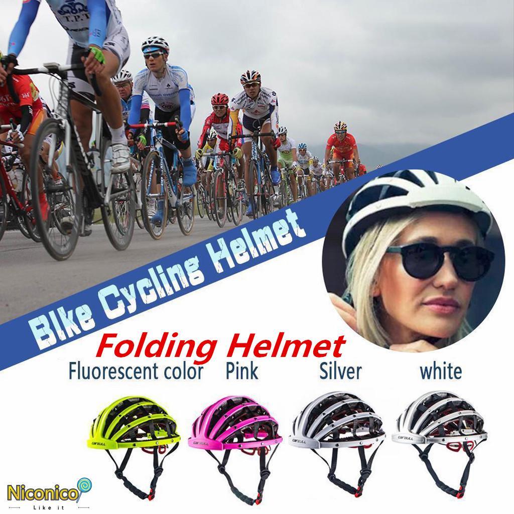 Foldable Bicycle Helmet Bike Folding Ultralight Unisex Cycling Helmets 56-62cm