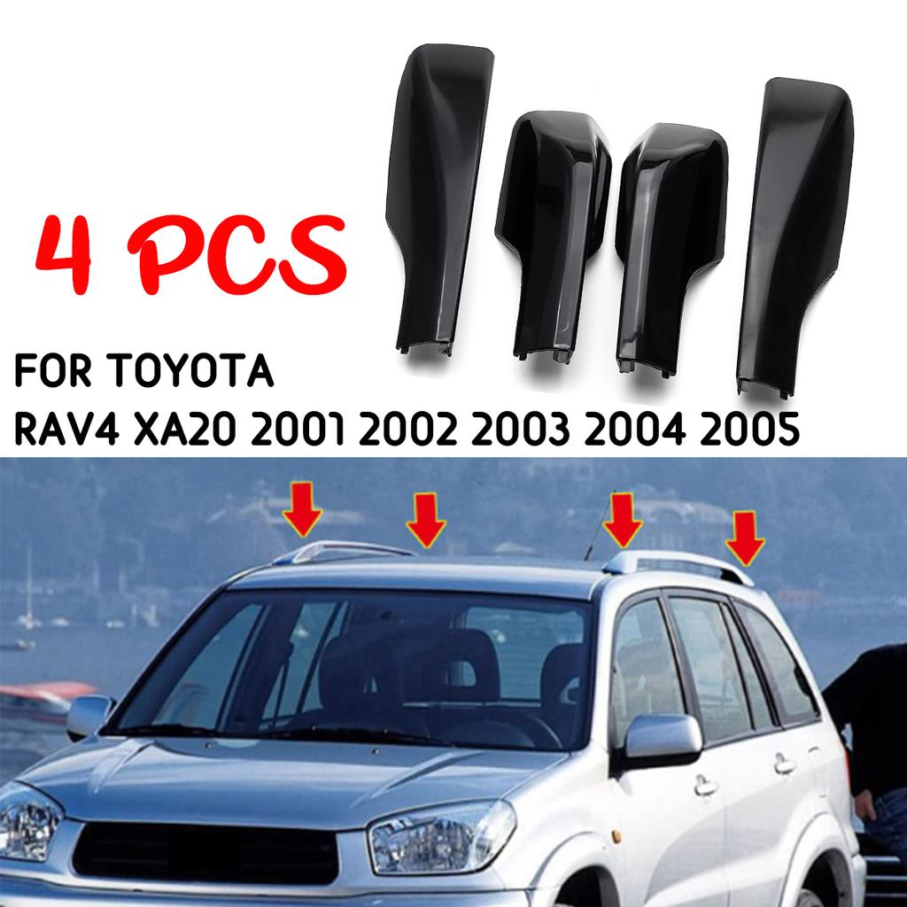 For 2006-2012 Toyota RAV4 Roof Rack Cover Rail End Shell Replacement Kit 4PCS