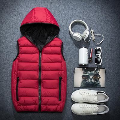 Жакет без рукавів для чоловіків жінок моди теплий жилет з капюшоном зимові  чоловічі пальто d66be14242956