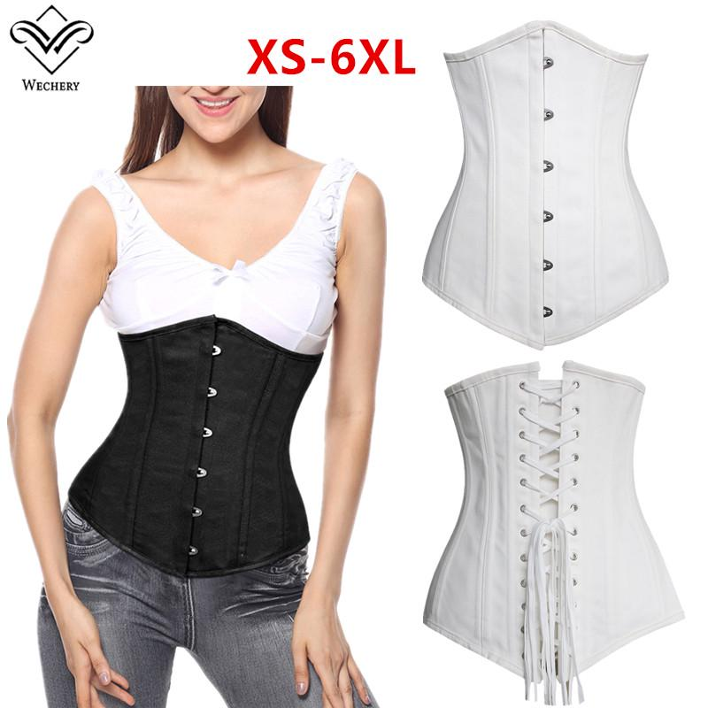 6f81f5af0f Women Steampunk Corset Sexy Underbust Plus Size Lace Up Waist ...