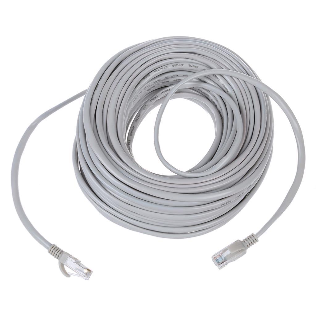 100 ft White 100 Base-T LAN hardware CAT5e Ethernet Cable RJ45 // RJ45 100 White for 10 Base-T EIA568 Patch Cable