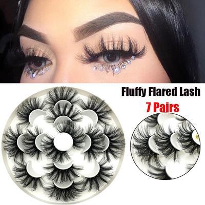 5Pairs 3D Eyelashes Hand Made Reusable Natural Long Mink Eyelashes Eyelashe V1F9
