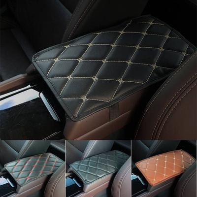 Universal Car Central Armrest Box Cover Protection Cushion Leather Auto Hand Pad