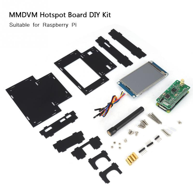 2 Colors DIY Kit MMDVM Hotspot Board for Raspberry Pi with 3 2'' Display+  8G TF Card + Antenna