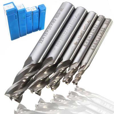 2 Pcs 1//4 inch HSS 4 Flutes End Mills Milling End Drill Bit Straight Shank