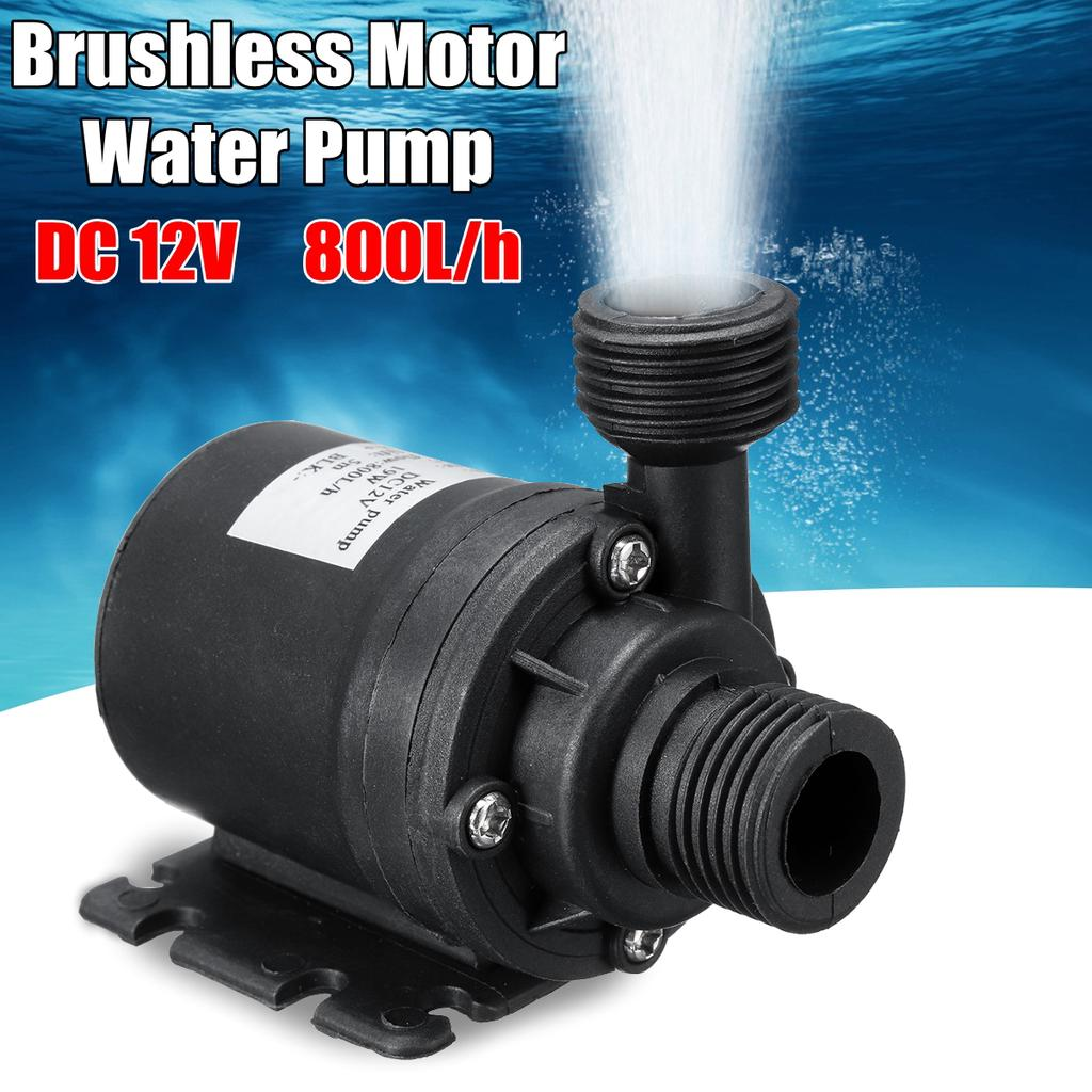 DC 12V Brushless Water Circulation Pump Thermo Heater Motor 800L//H Attachment
