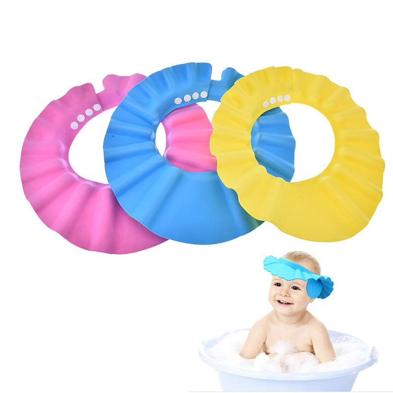 Humor 2pcs Safe Shampoo Shower Bathing Bath Protect Soft Cap Hat For Baby Wash Hair Shield Bebes Children Bathing Shower Cap Hat Kids Caps, Foils & Wraps Hair Care & Styling