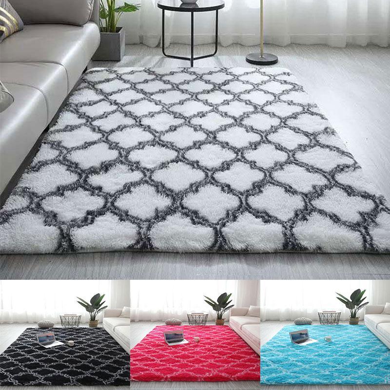 Fluffy Rugs Anti Slip Shaggy Rug Carpet Mat Living Room Floor Bedroom Area Rugs