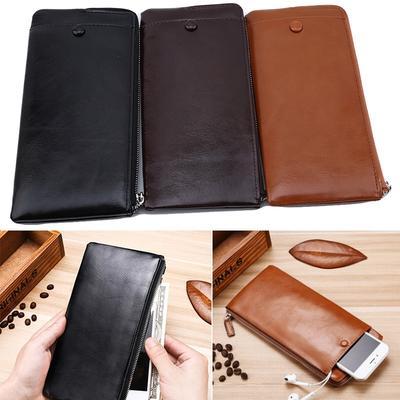 f6fb4d880479 Мужчины кошелек монет Кошелек ретро PU кожа сцепления держатель карты  телефона