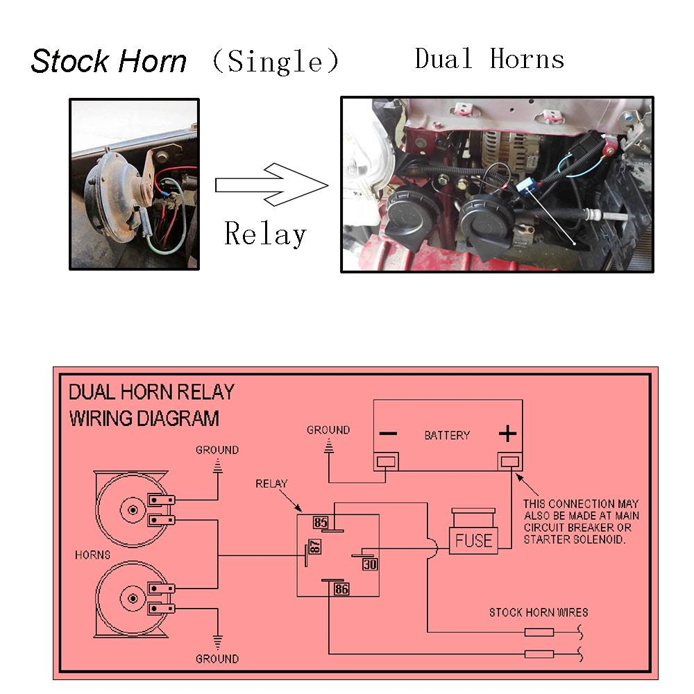 12v Horn Wiring Harness Relay Kit For Grille Mount Blast Tone Horns Motorcycle Buy At A Low Prices On Joom E Commerce Platform