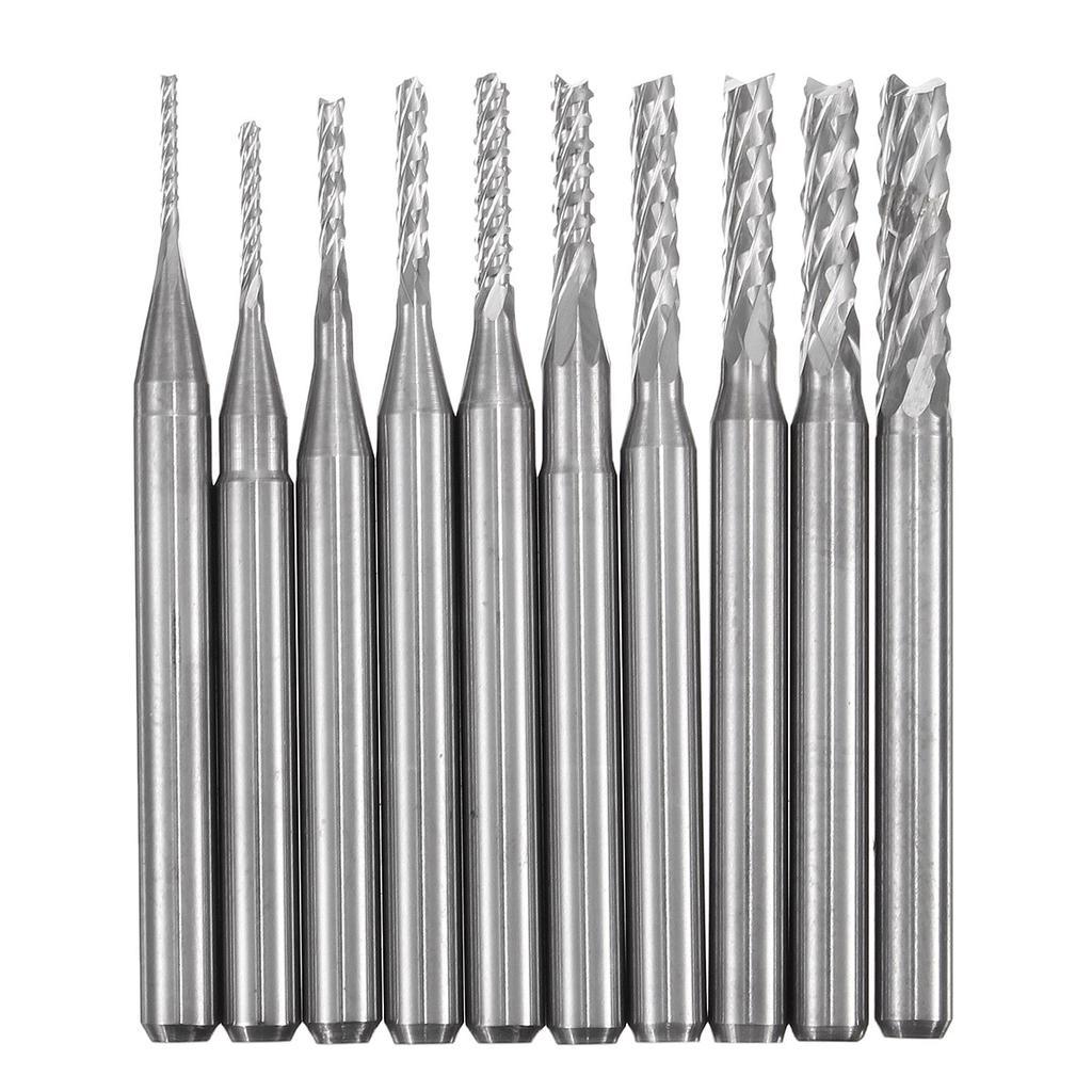 5pc Carbide End Mill 6mm Shank Dia 22mm Length Single Flute Milling Cutter Bit