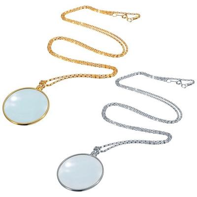 New Decorative Monocle Pendant Necklace 5X Magnifier Coin Magnifying Glass