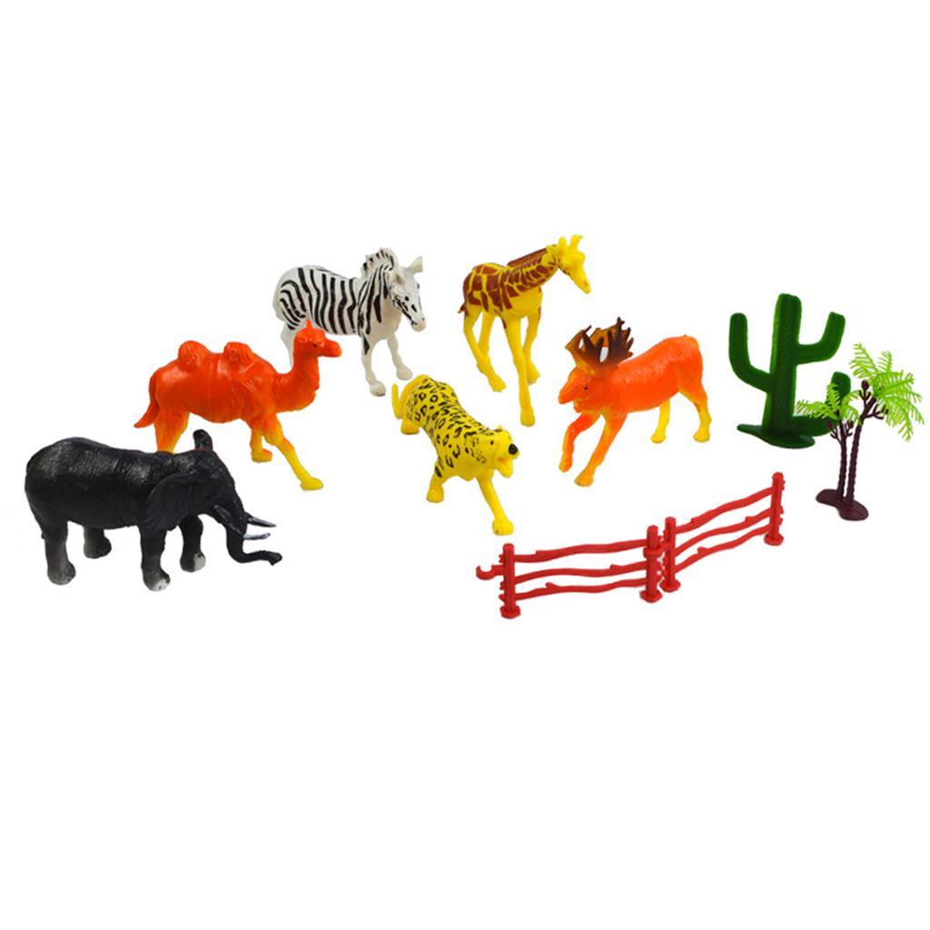 6PCS Mini Animals Model Figurine Playset Toy Forest Animal World Set Gifts