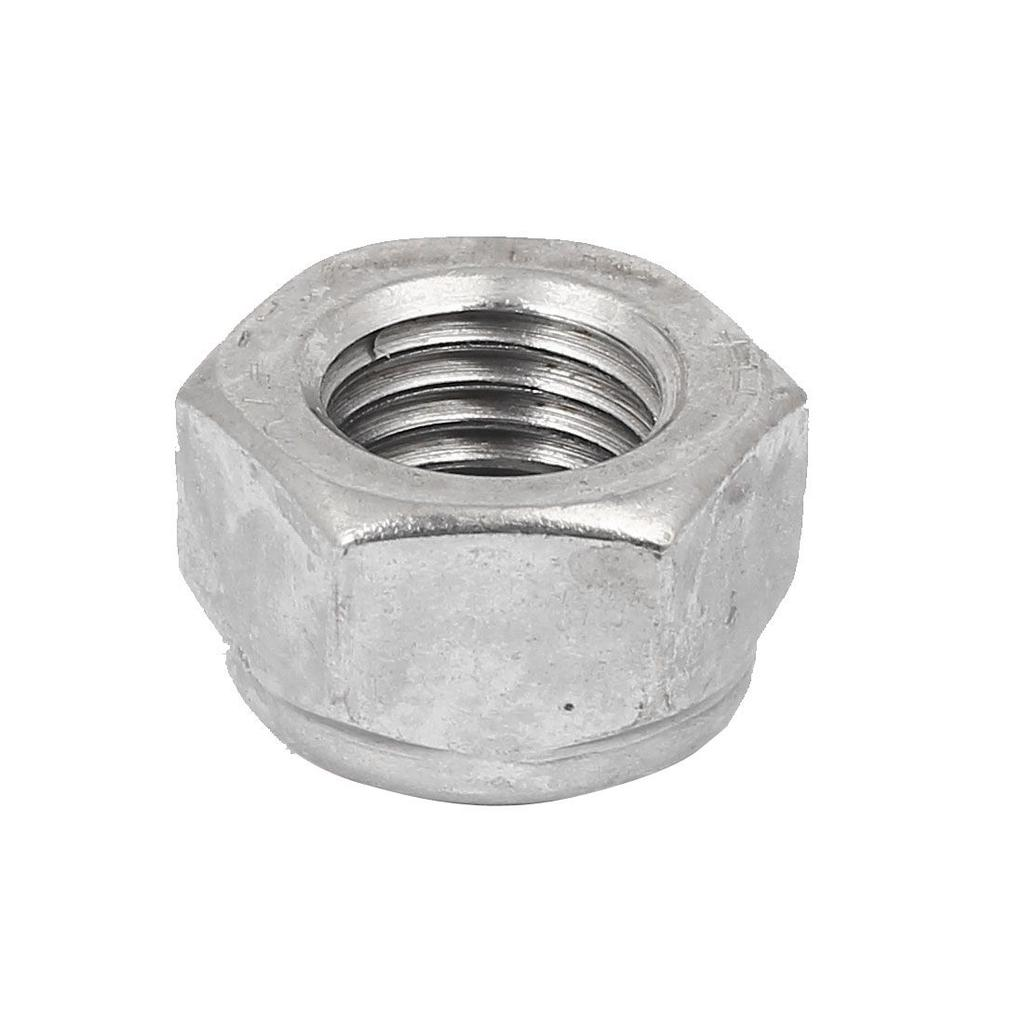 Pack of 25 Smooth Finish 304 Stainless Steel M8 x 1.25mm Hexagonal Safety Nuts with Nylon Insert