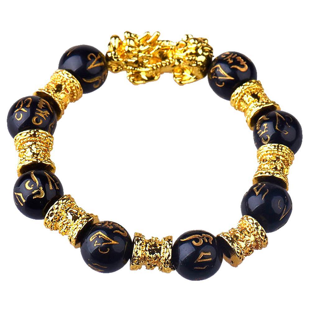 Feng Shui Black Obsidian Wealth Bracelet Original Quality Wristband Jewelry Gift
