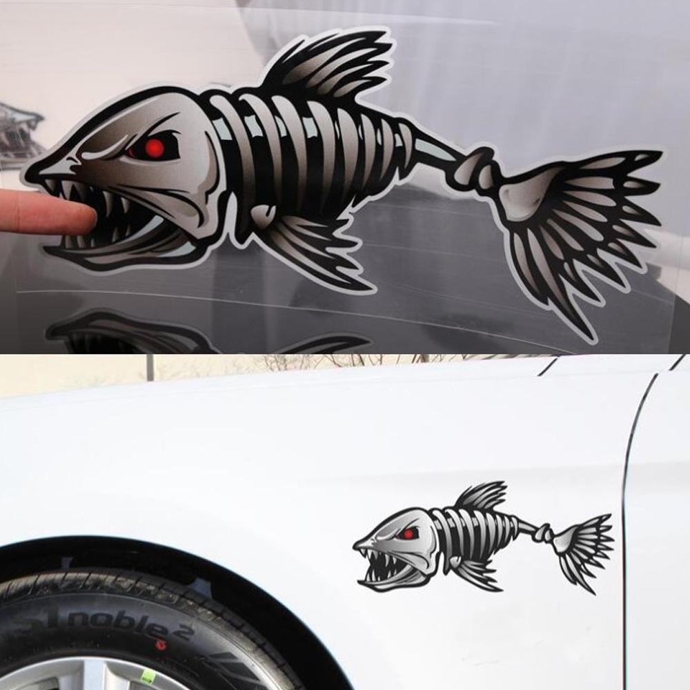 FEAR NO FISH BONE SKELETON Decal Sticker Car Truck Motorcycle Window Ipad Laptop