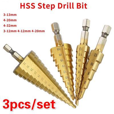 """15 Steps Shank 3//8/"""" HSS Cobalt Step Drill Bit Metric 4mm to 32mm"""
