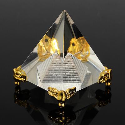 Small Feng Shui Egypt Egyptian Crystal Clear Pyramid Healing