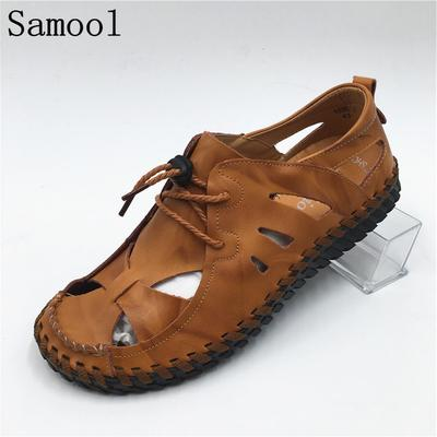 a03a892acc25 Men s Sandals Summer High Quality Brand Comfortable Beach Men Causal Fiber  Fashion Outdoor Shoes