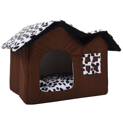 01a6fd08 Luksusowy, wysokiej klasy podwójny domek dla zwierząt Dom dla psów 55 * 40  * 42 cm