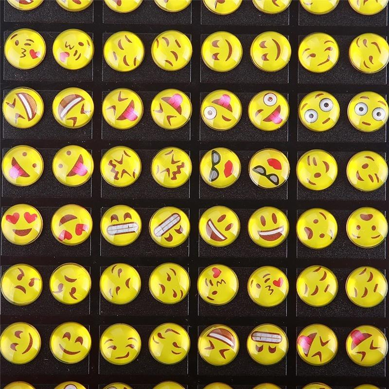 9faddf7f5 36 Pairs/Card Emoji Earring Cartoon Smile Funny Face Ear Stud DIY for Women  Girl's Gift Jewelry-buy at a low prices on Joom e-commerce platform