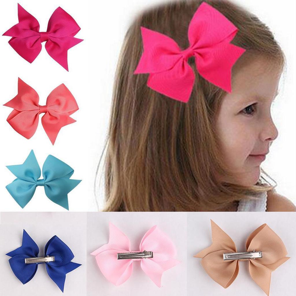 pacifier soother dummy holder clip for Baby Girl hot pink polka dots ribbon- bow