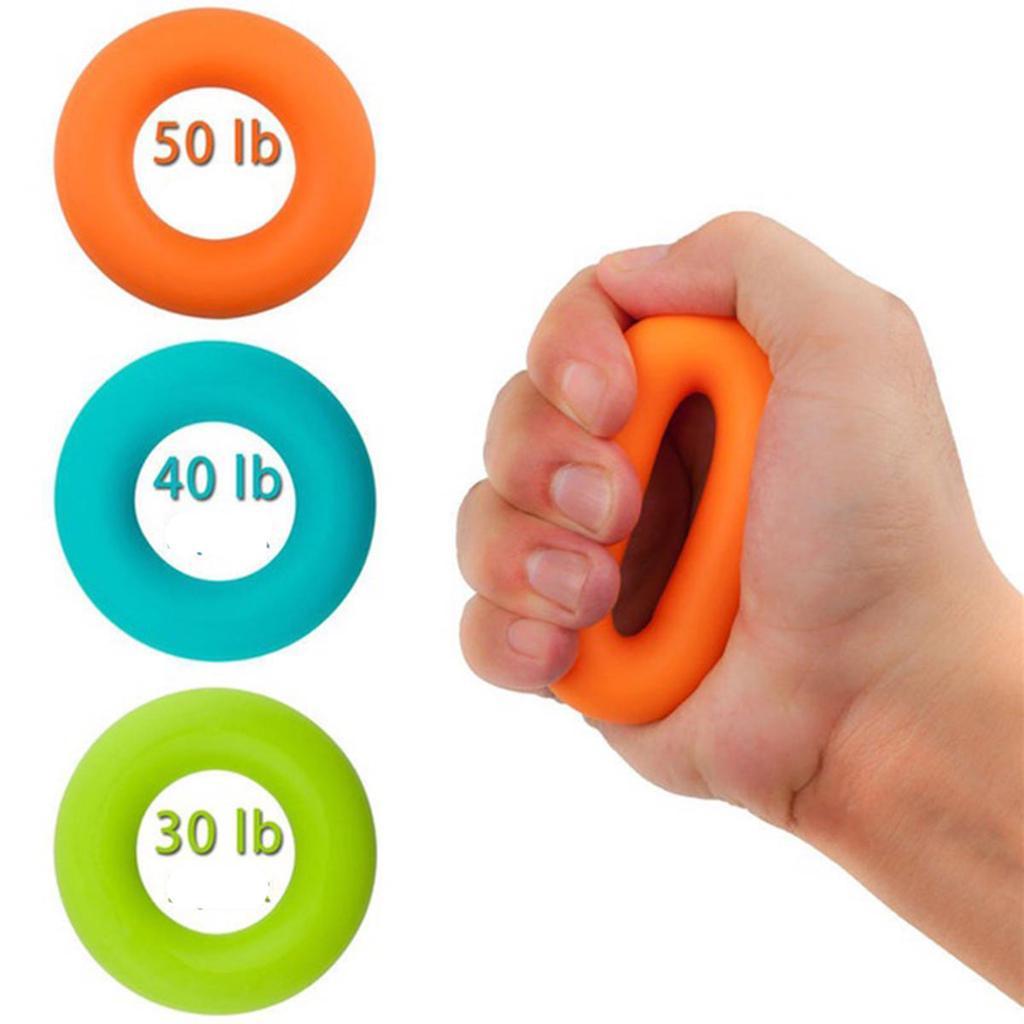 Hand Finger Wrist Grip Forearm Strength Exerciser Trainer Ring 40 Kg