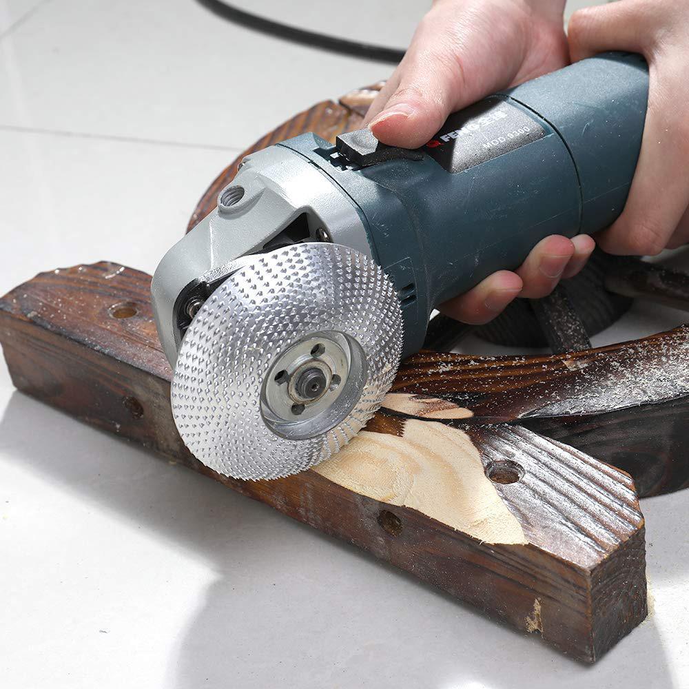 4 tlg Raspelscheibe Winkelschleifer Schleifscheibe Holz Klinge Werkzeug Kit