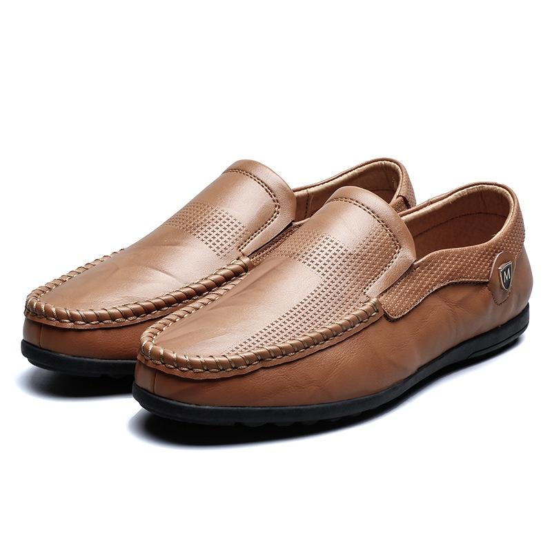 Soft Synthetic Leather Slip On Moccasin Flat Boat School Daily Dress Shoes