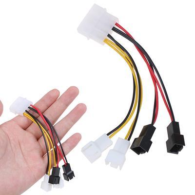 Calvas Black Aluminum alloy 5 pcs 15 Pin SATA Male to 2 SATA Splitter Female Power Cable Color: Black