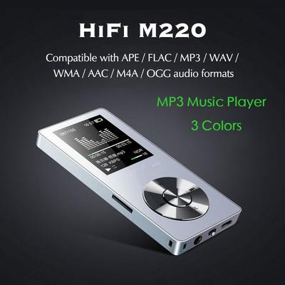 M220 HIFI MP3 1 8 Inch TFT 8GB Lossless Music Player FM Radio Support APE  FLAC WAV W(Expandable Up