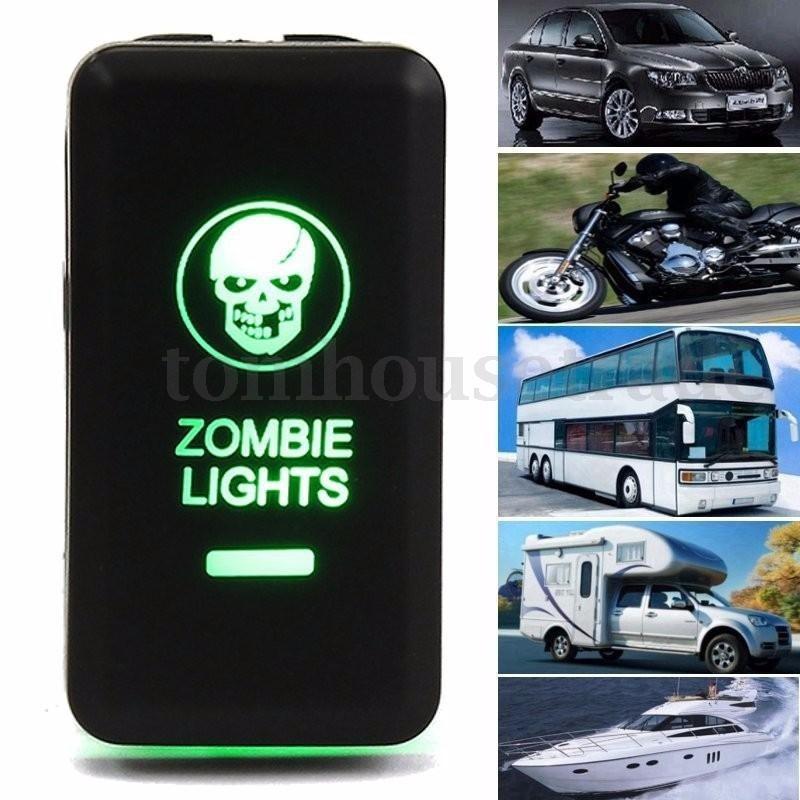 Ein-/Ausschalter drücken leuchtet LED Zombie kühle Farbe 12-24V ...