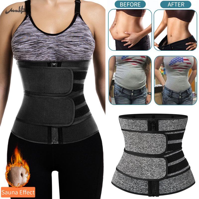 Details about  /Women/'s Waist Trainer Neoprene Sauna Belt Sweat Body Shaper Tummy Control Girdle