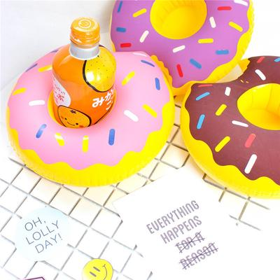 Summer Pool Coasters Water Toy Floats Doughnut Drink Holder Cup Holder Swimming