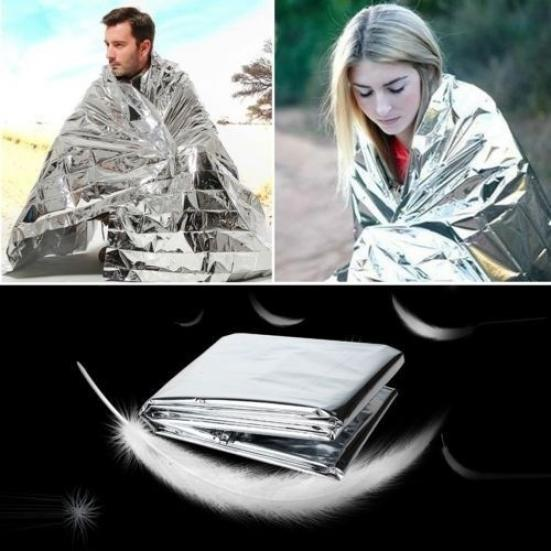 Portable Waterproof Emergency Space Rescue Thermal Mylar Blanket 1.3 x 2.1m