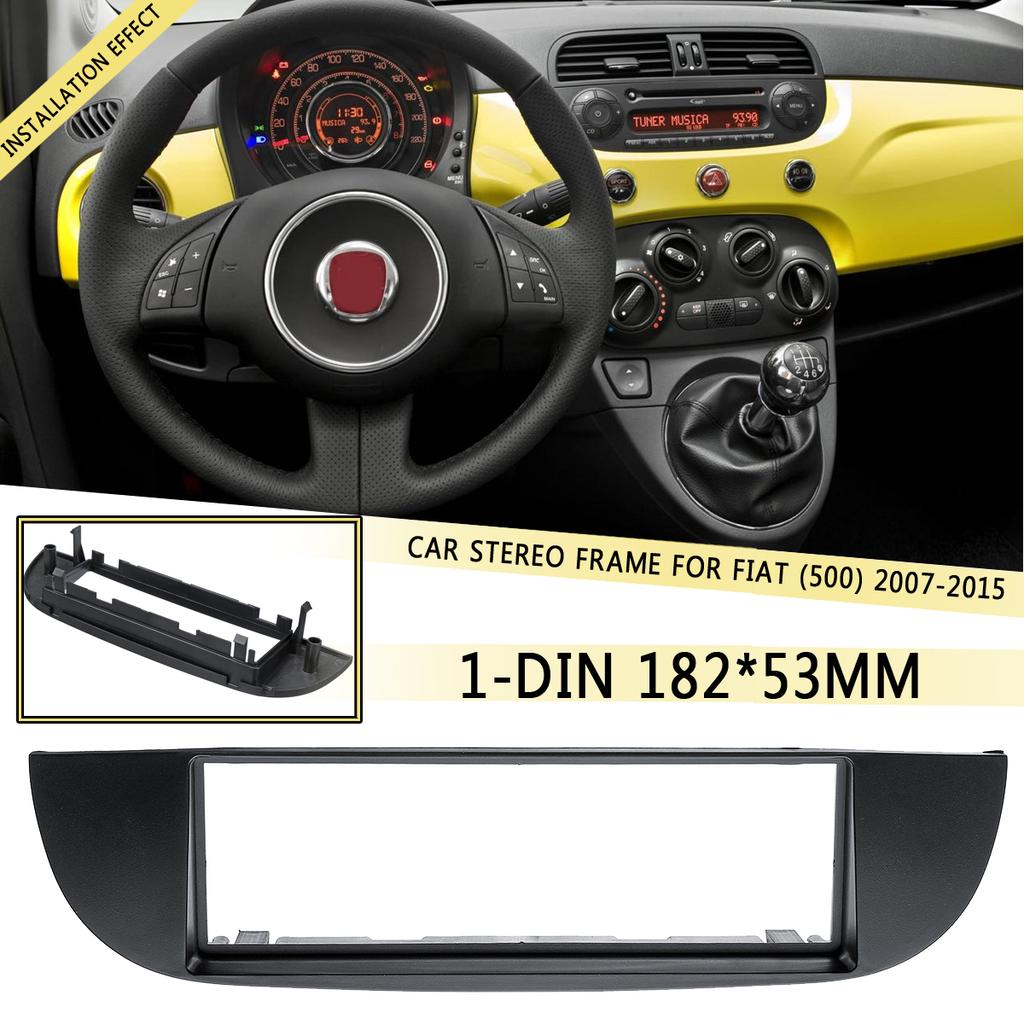 Fiat 500 Single DIN Facia Fascia Car Radio Audio Stereo Adapter Plate Surround