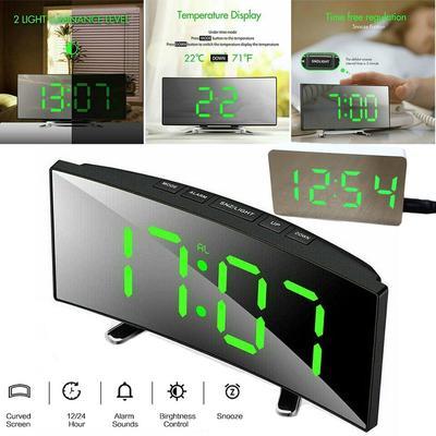 Digital Alarm Clock for Bedroom Desk Clock Snooze Function Adjustable Volume Brightness Dimmer