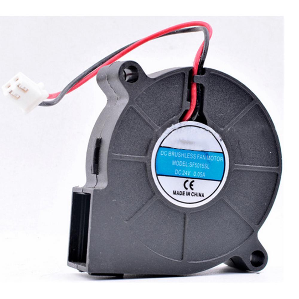 New SANLY SF5015SL SF5015SM DC 24V 0.06A 50x50x15mm 2Pin 2Wire Cooling Fan