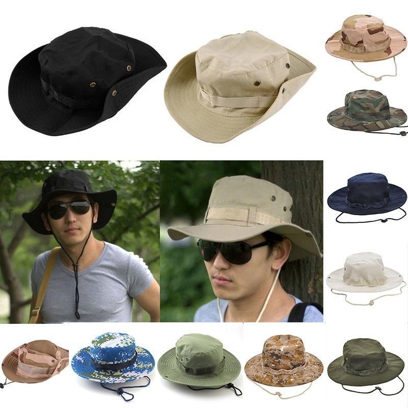 户外休闲迷彩帽旅游渔夫帽奔尼帽丛林帽子库存出口韩国 加大加厚