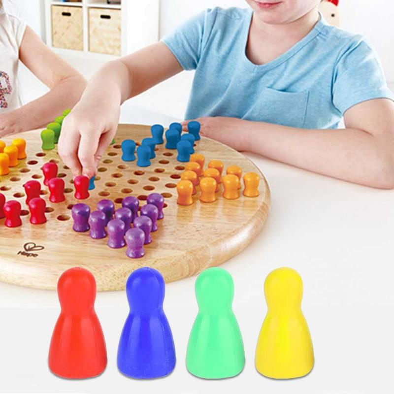 30 Colorful Pieces Pawn Chess Plastic Pieces Dice Set for Board Card Games